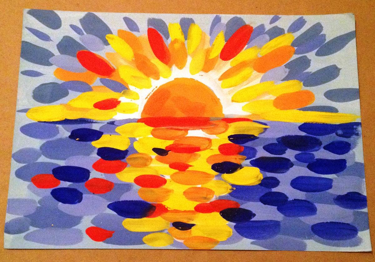 Рисунок красками для детей 4-5 лет