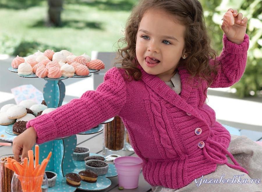 Вязание кофточек для девочек с картинками