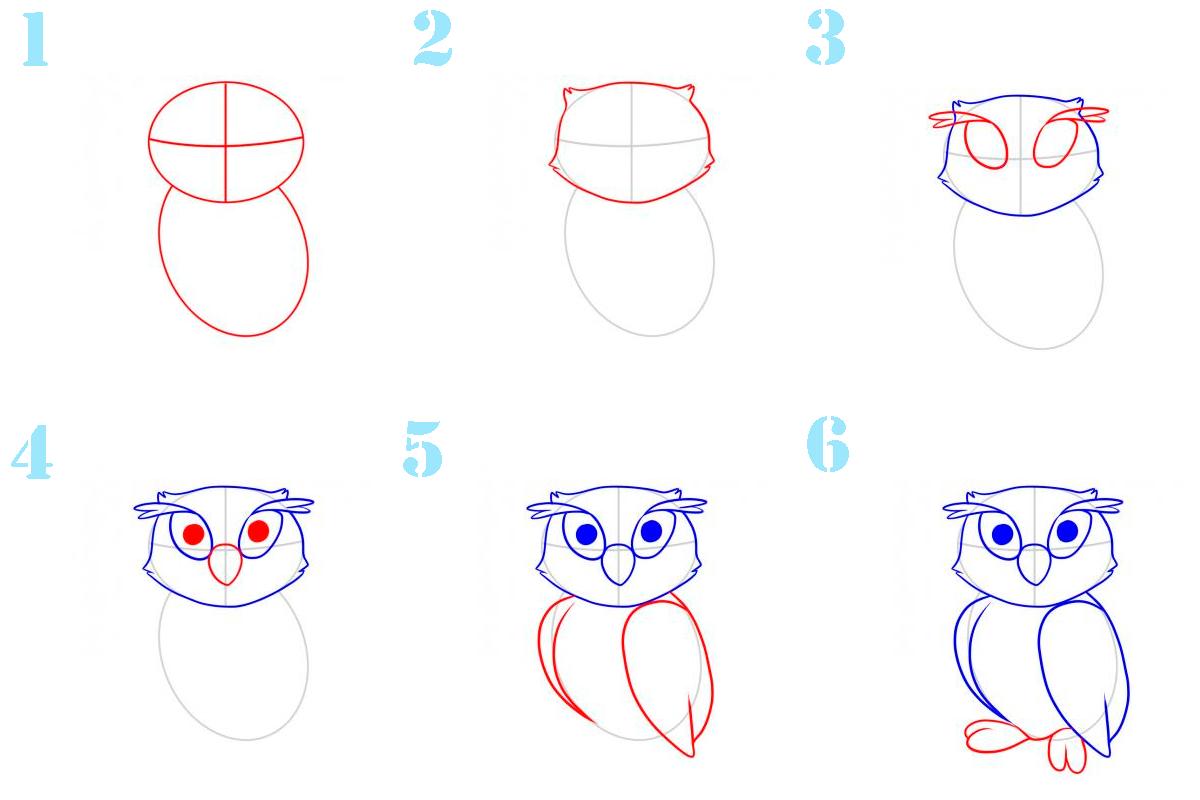 отметить, рисунки карандашом сова поэтапно натяжных потолков