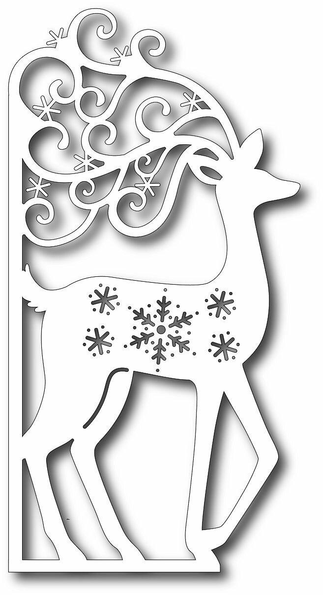 Трафареты новогодних открыток 2019, днем
