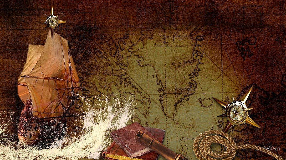 Надписью, прикольный фон для фотошопа в стиле старинных кораблей