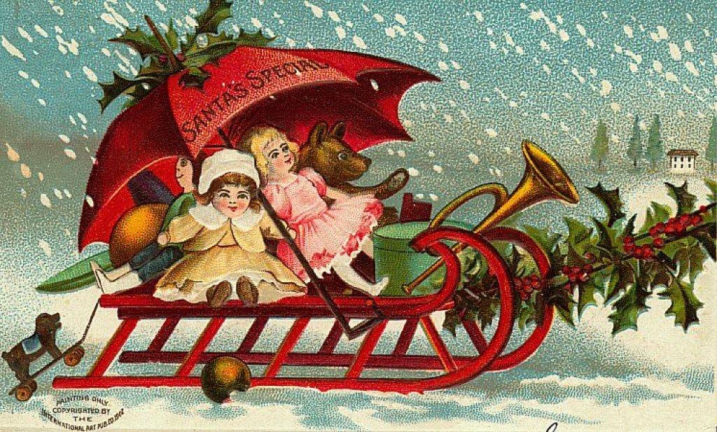 Рождественские открытки в нем