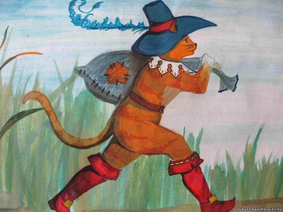 Кот в сапогах картинки нарисованные