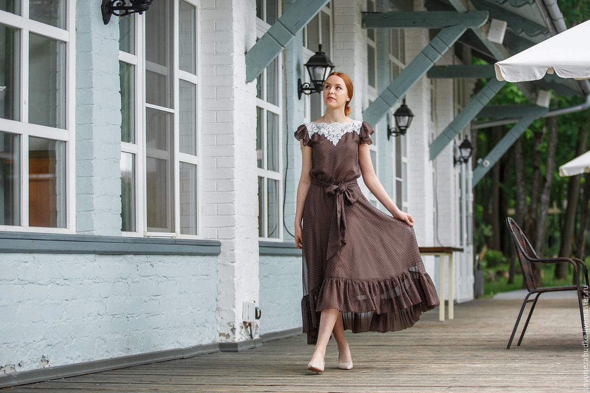 806e949fdfb ... Шелковое платье Романтика - купить в интернет-магазине на Ярмарке  Мастеров с доставкой - CX3EZRU