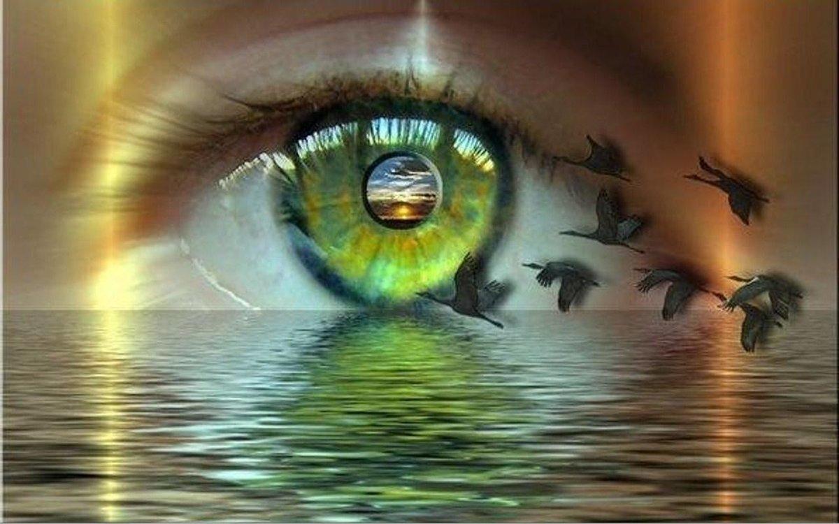 Открытка про глаза, человеку надписью
