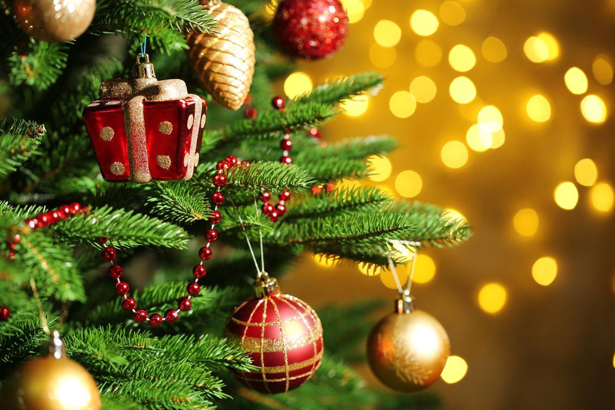 Открытки новогодние елки
