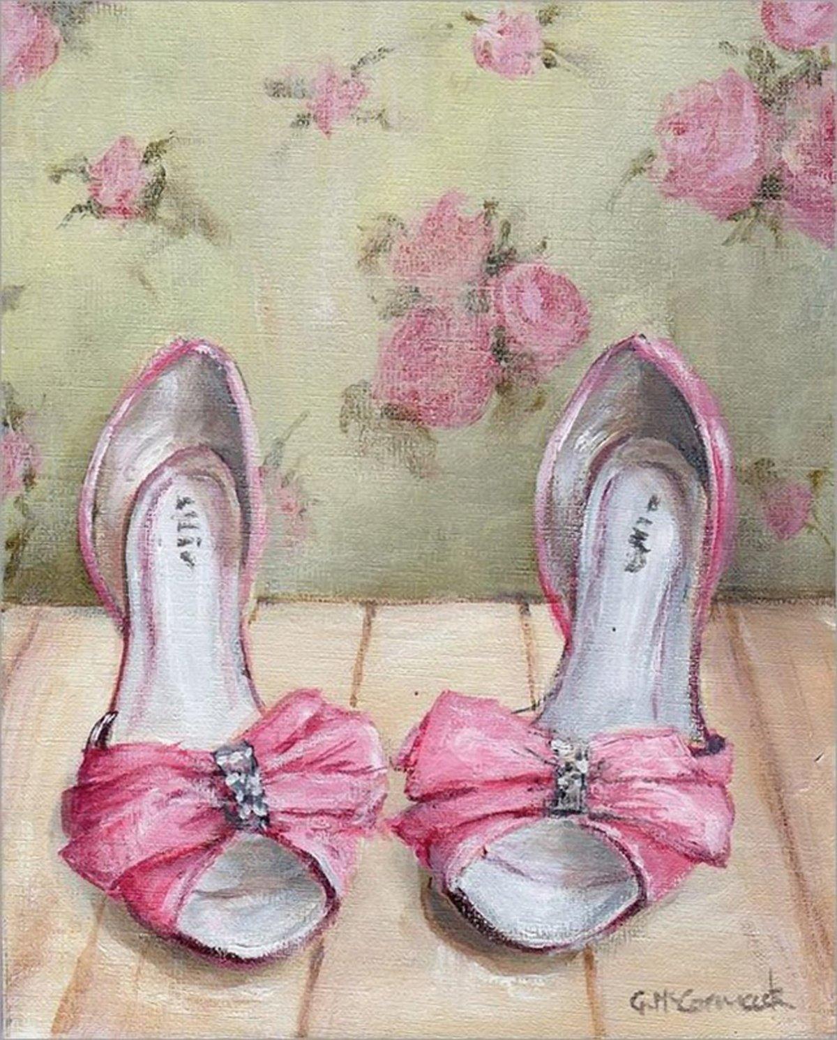 Картинки декупажа обувь