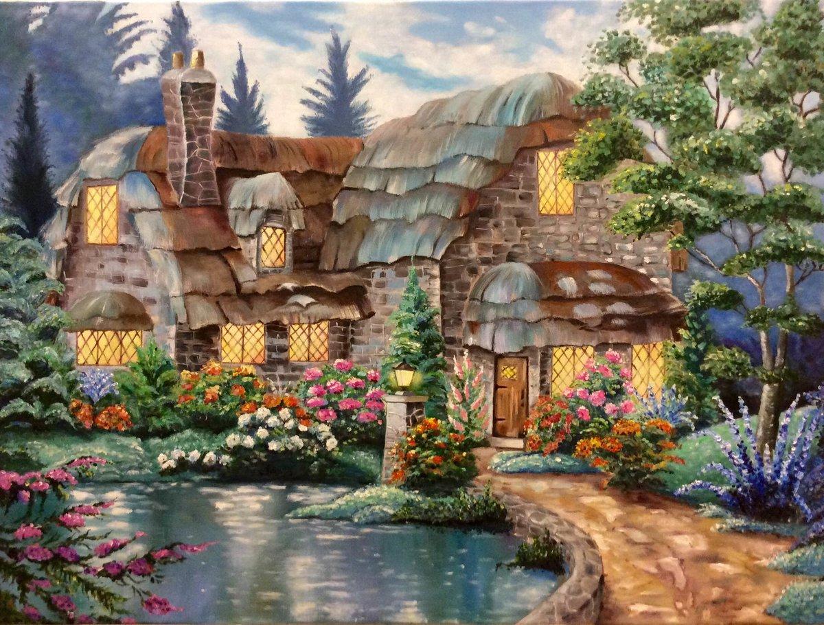 Картинки сказочные домики, марта котами