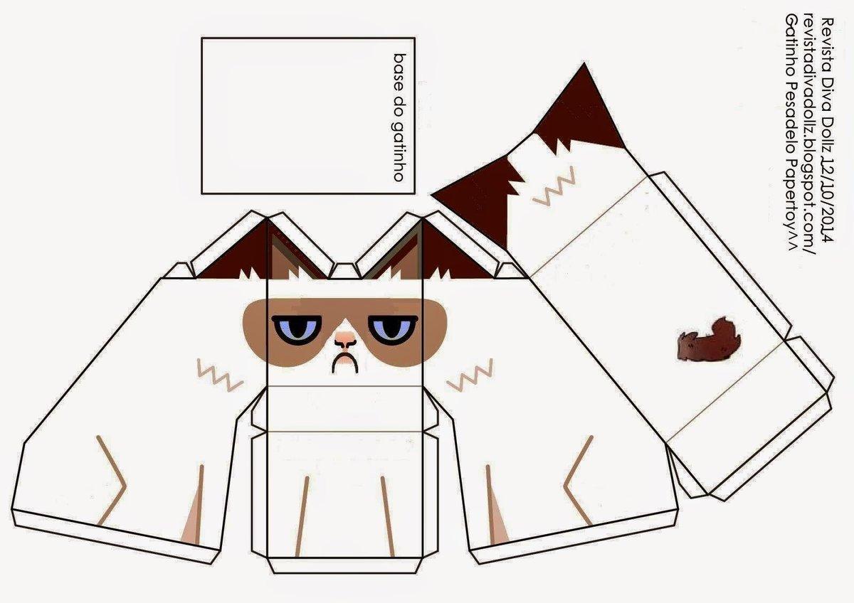 модель 3д открытки шаблоны кошка раздумывая, как приготовить