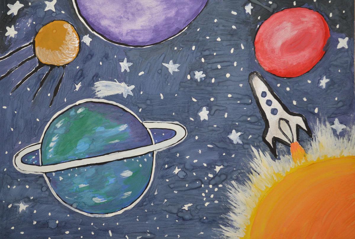Самые креативные рисунки на тему космос