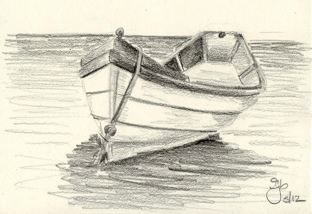 имеете лодка картинка карандашом как