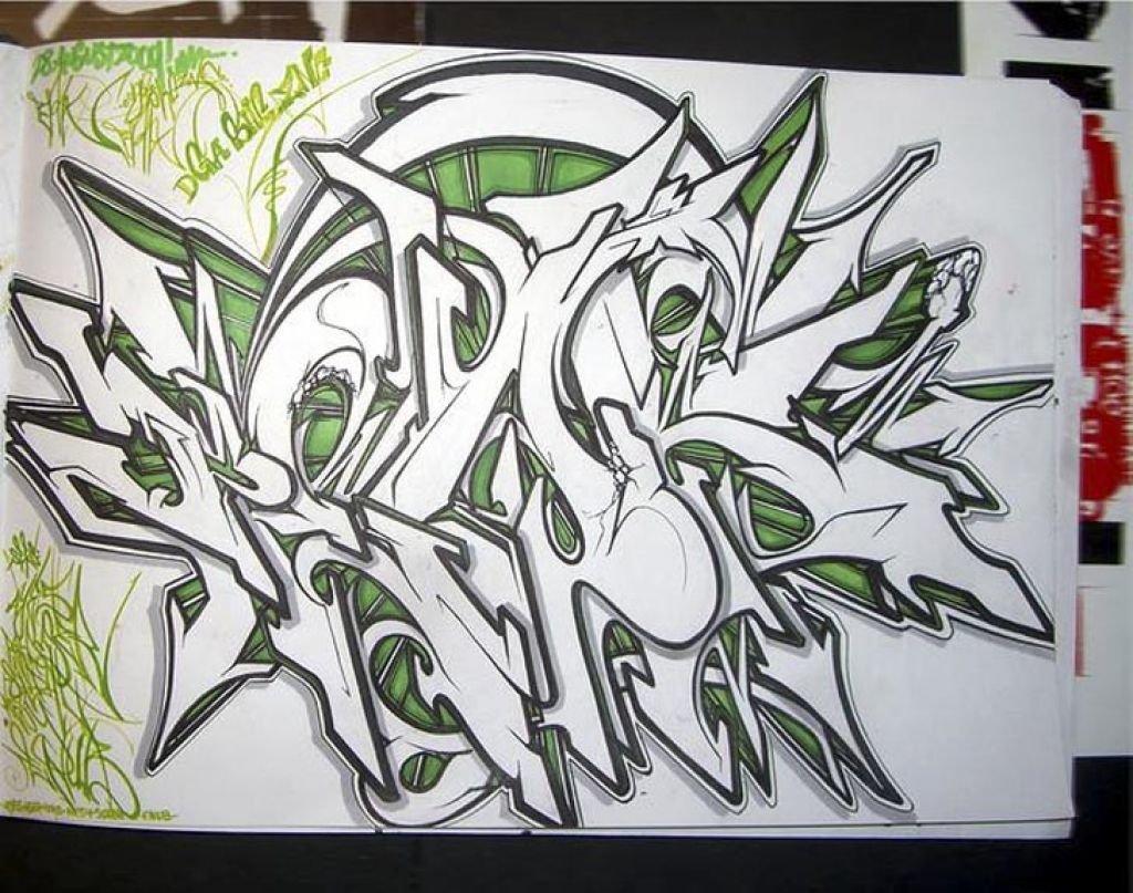 Граффити на бумаги картинки