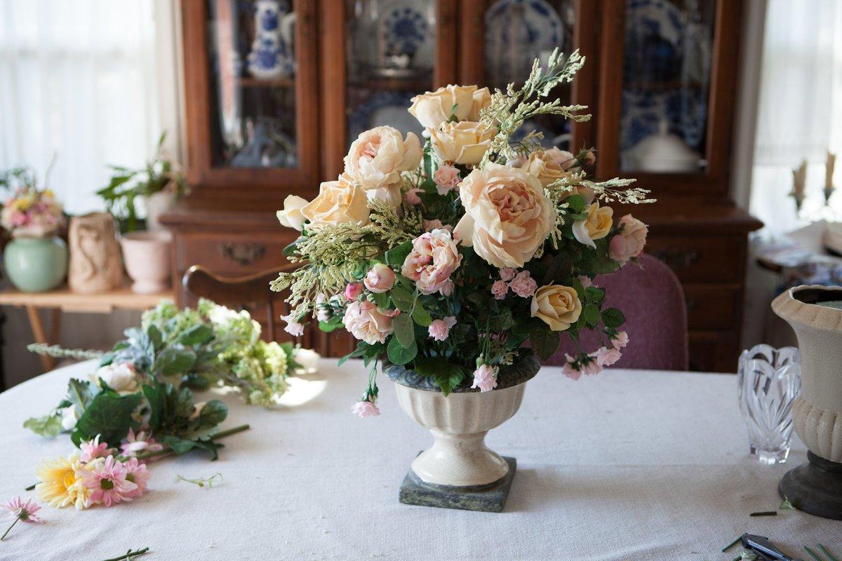 Купить эксклюзивные искусственные цветы для интерьера, букет владивосток