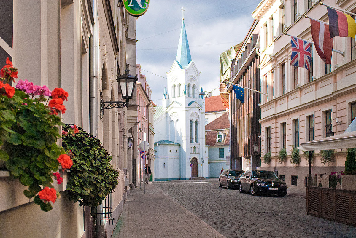 Рига старый город фото