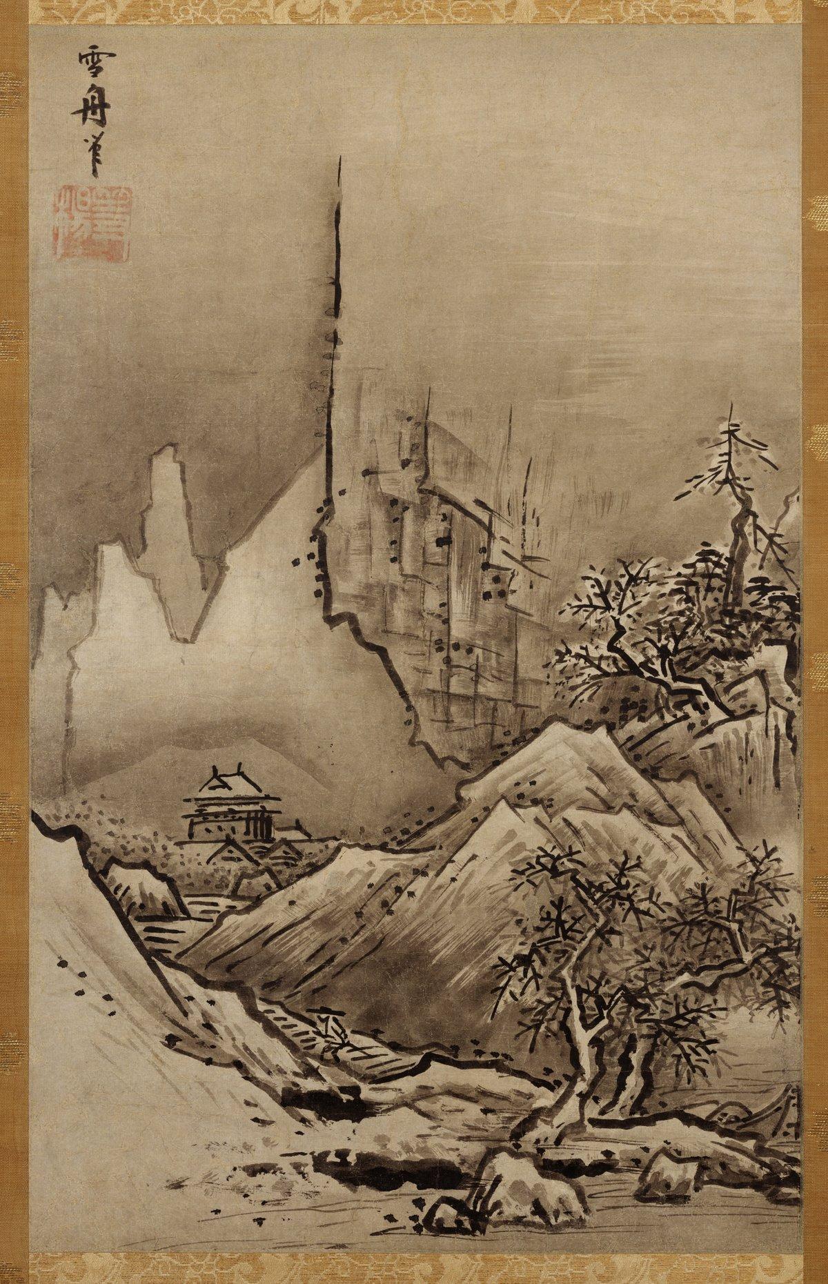 Японская живопись. Сэссю. «Зимний пейзаж»