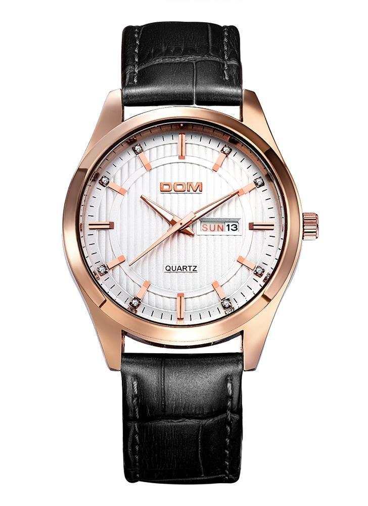 Мужские часы dom роскошные брендовые наручные часы водостойкие мужские часы кварцевые из натуральной кожи деловые мужские часы ш 1 ,41 - 1 ,82 руб.