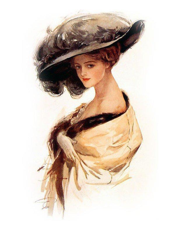 Элегантная девушка открытка