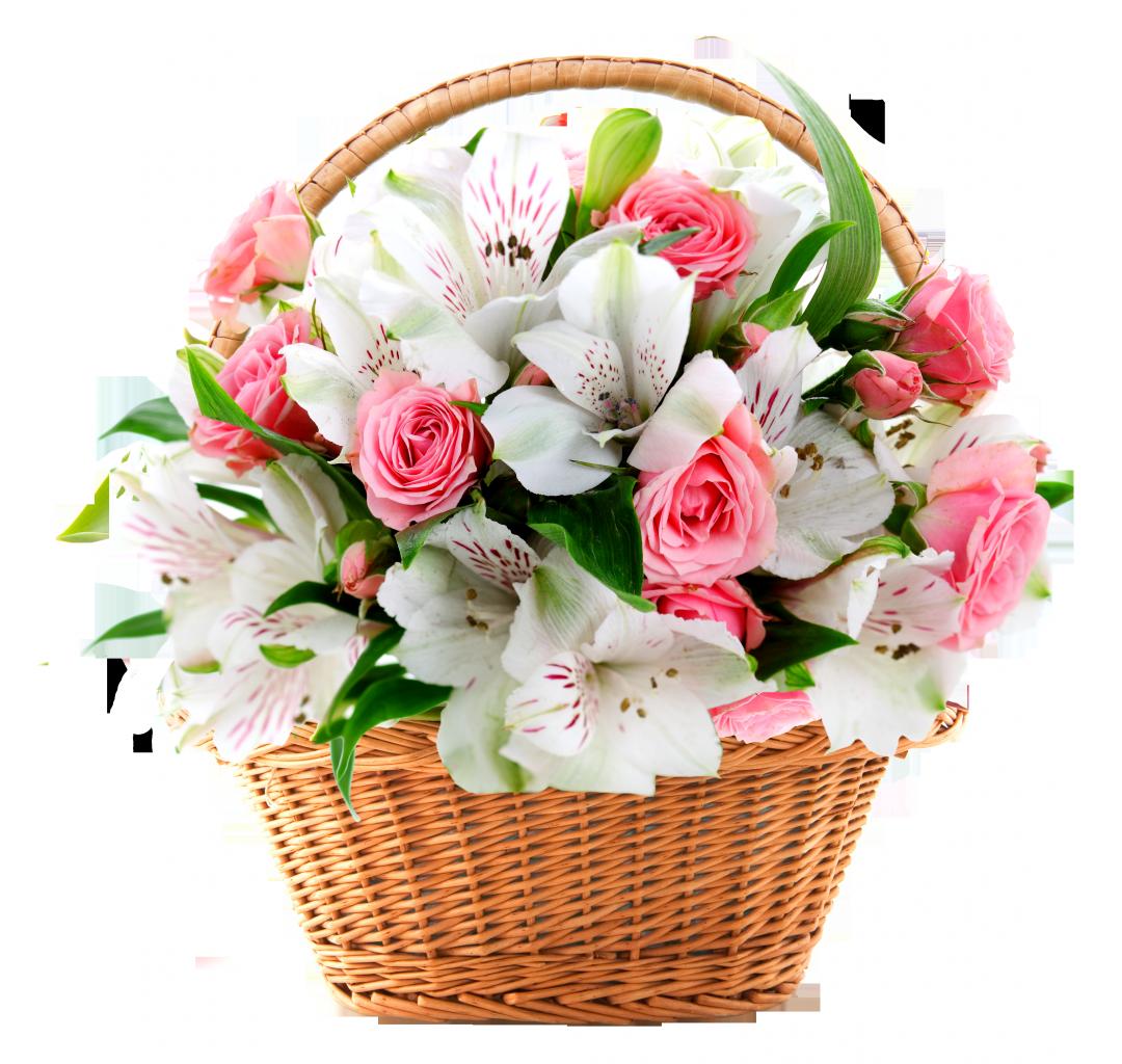 Картинки света, открытка корзины с цветами