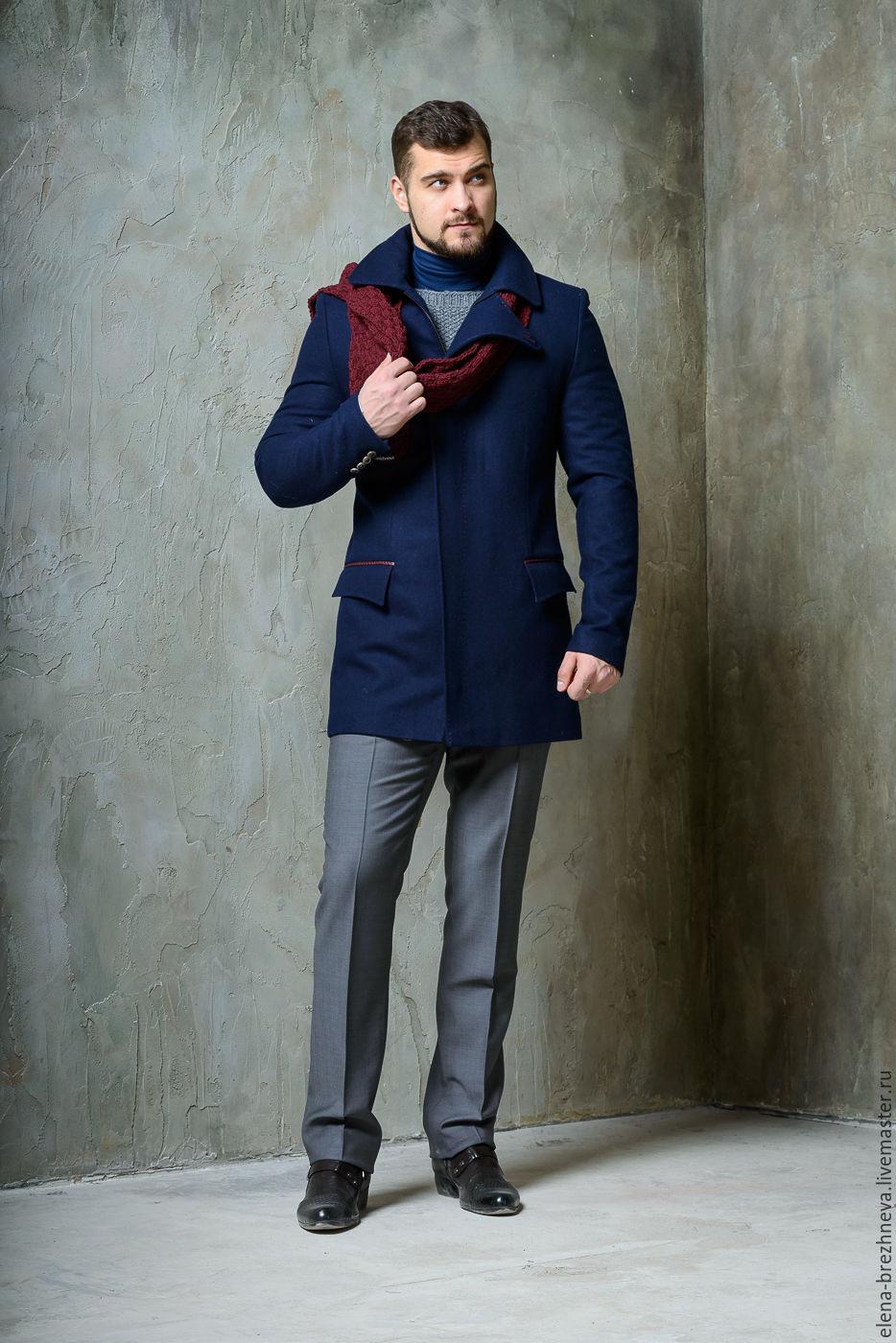 e906035f35f «Пальто мужское с элементами из питона - купить или заказать в  интернет-магазине на Ярмарке Мастеров