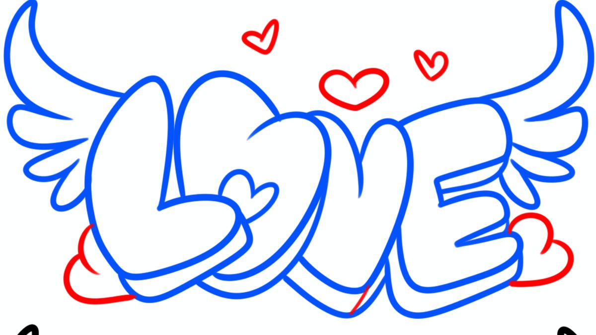 картинки рисовать лове сердце