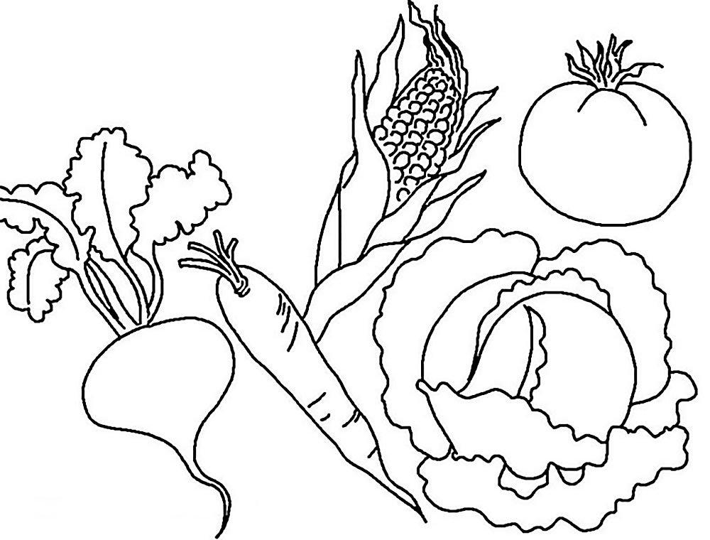 имеет рисунок про овощей полной