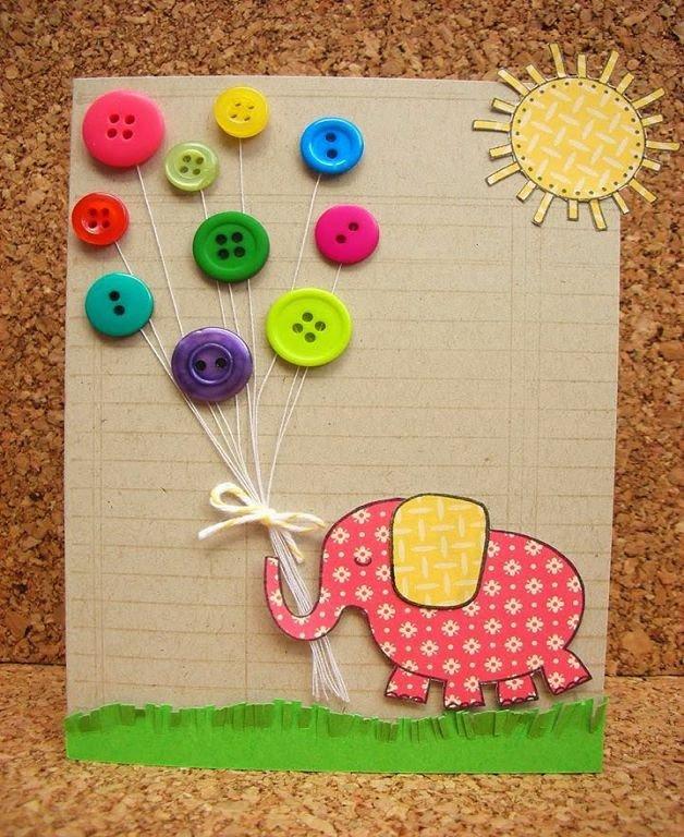 Как делать детский открытки, веселые