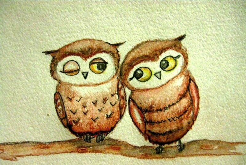 должны две совы картинка рисунок много раз