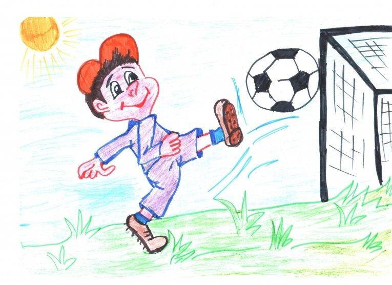 Рисунок мой любимый вид спорта