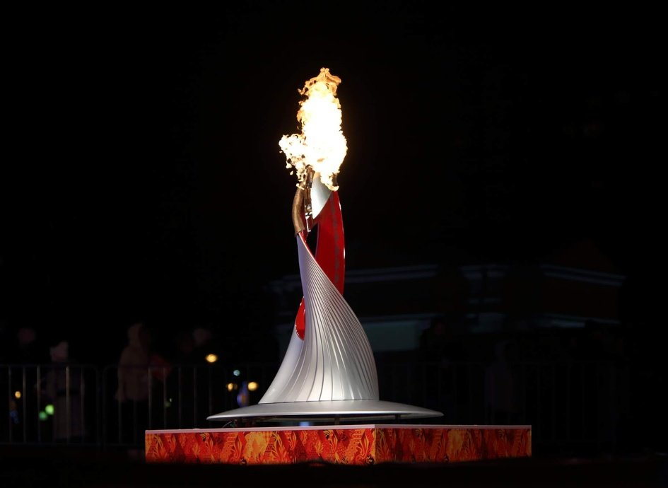 Картинка чаши олимпийского огня