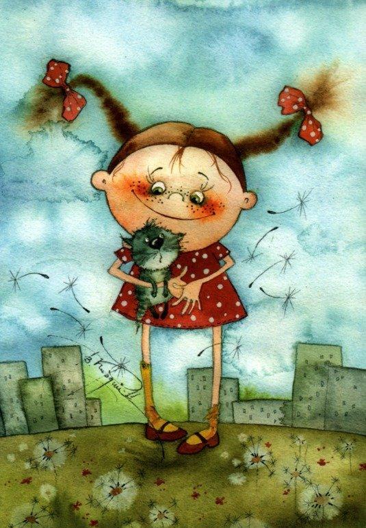 Нарисованные картинки детей прикольные девочки, красивые картинки