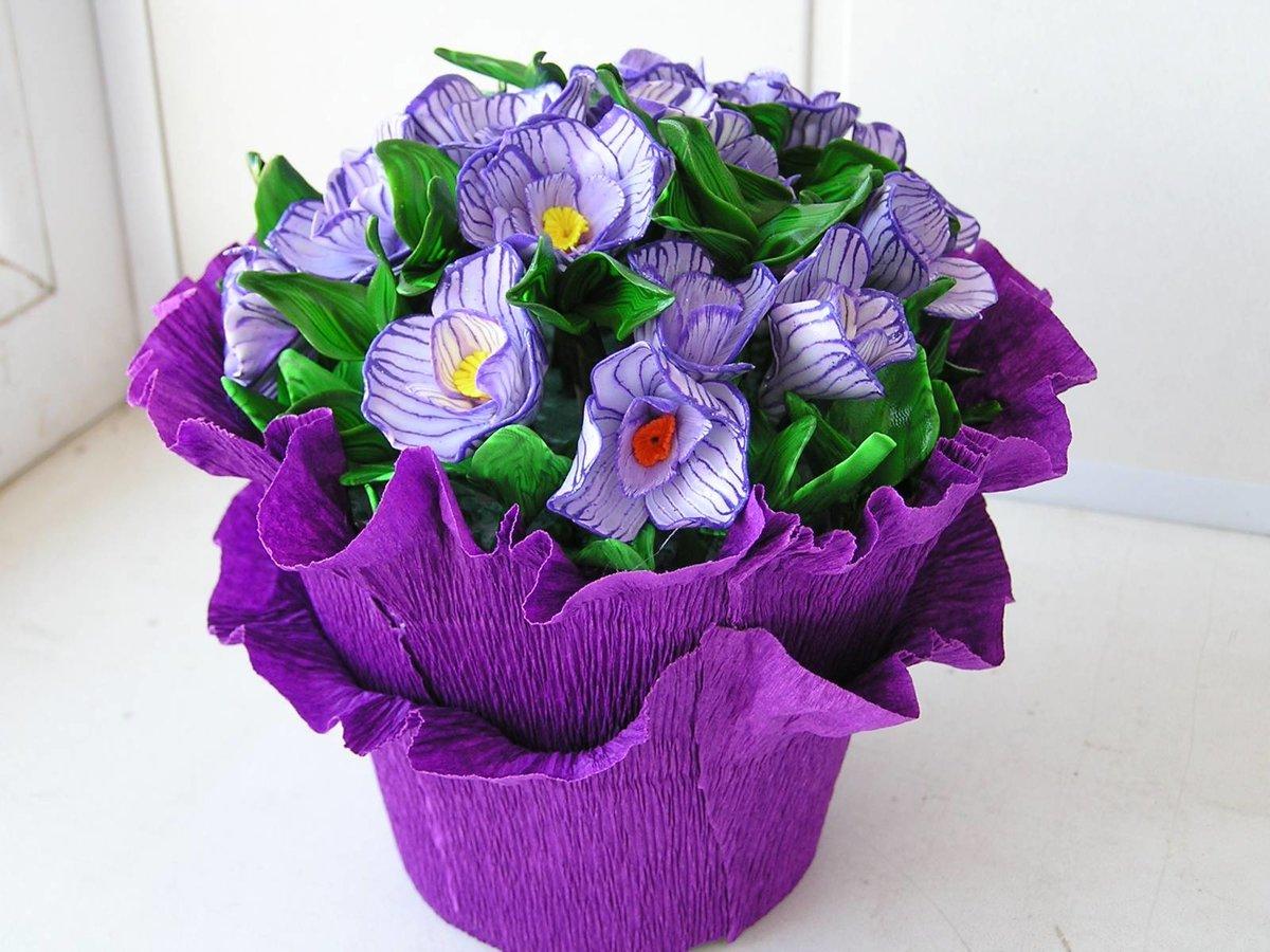 совершенная поделка букет цветов своими руками чесать зудящее