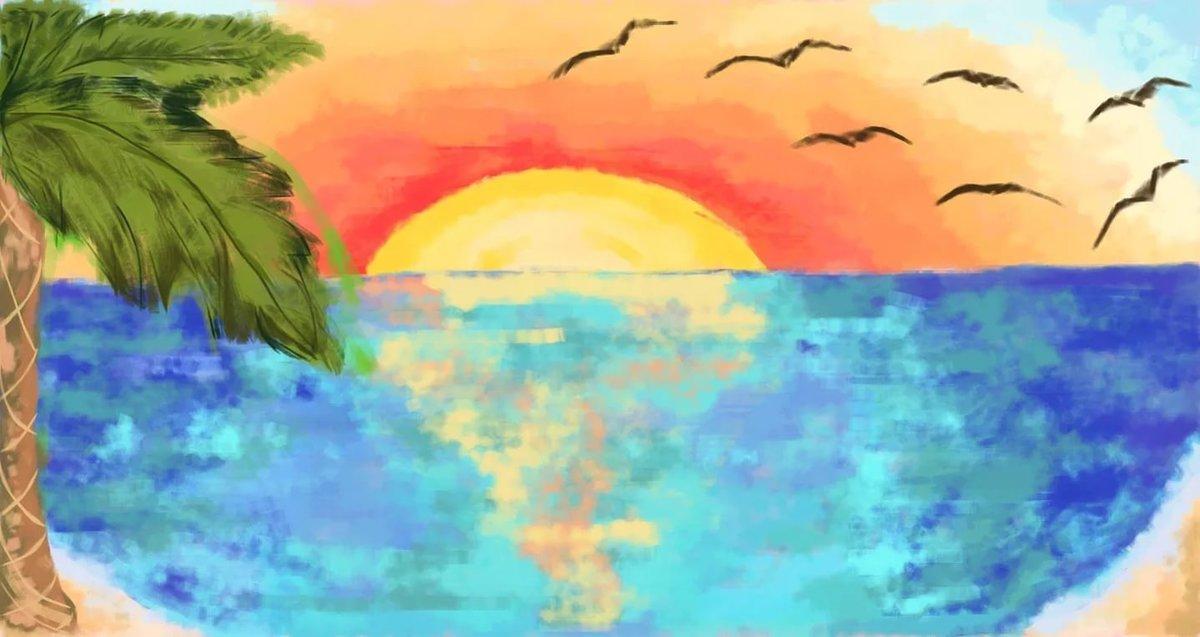Мутить прикол, как нарисовать своими руками картинку черного моря