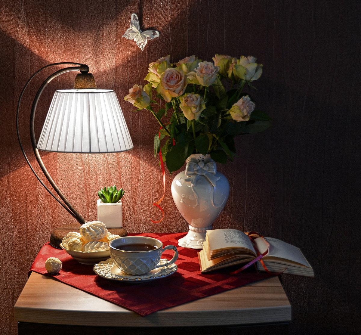 популярный вечерний чай ретро картинка выбранный