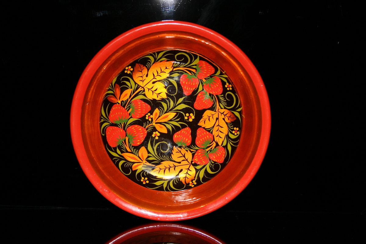 Гостевую, картинки хохломская роспись тарелки