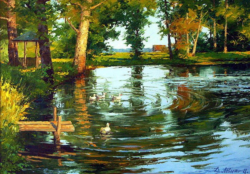 Природа находит самое разнообразное отражение в живописи.