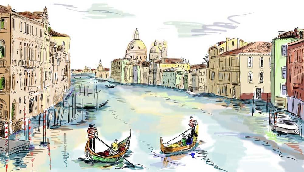 итальянский город рисунок множество традиций