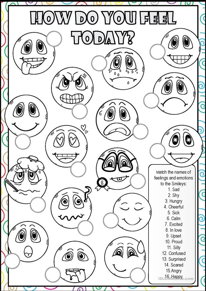 Quot All Worksheets Quot Feelings And Emotions Worksheets