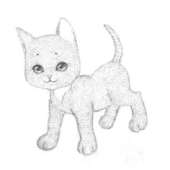 Днем рождения, картинки на тему кошки для срисовки