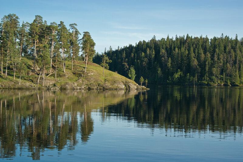 Противоположные берега #валаам #ладога #озеро #природа #скалы #сосны
