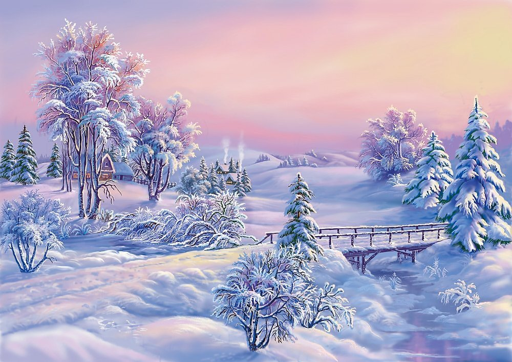 Д.р, с природой новогодние открытки
