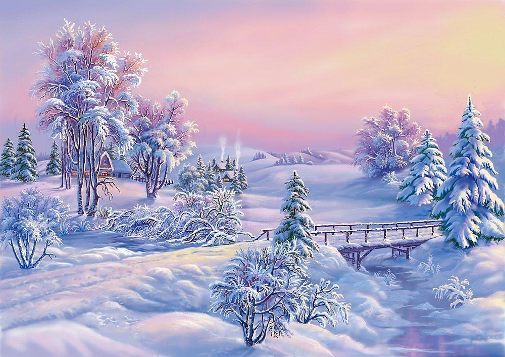Картинки, природа новогодние открытки