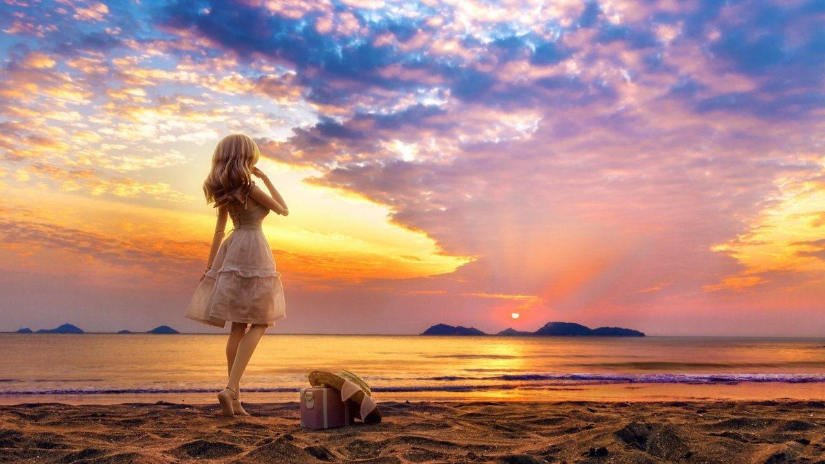 Прикол, картинки восход солнца на море и девушка