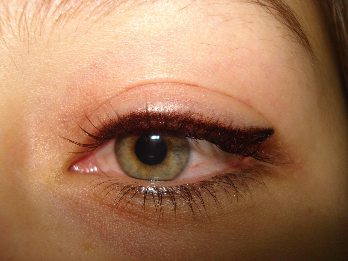 цветной татуаж глаз фото тех пор она