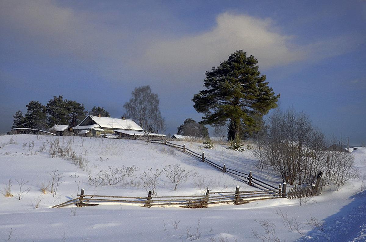 распознать симптомы зимний пейзаж в деревне фото стену бутылки