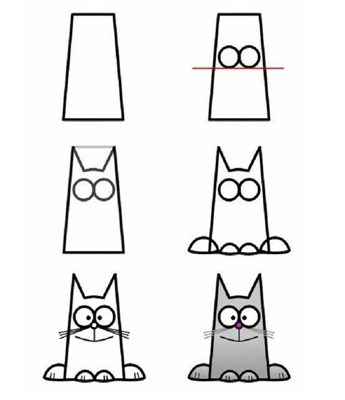 Смешные животные рисовать поэтапно, приколы картинки