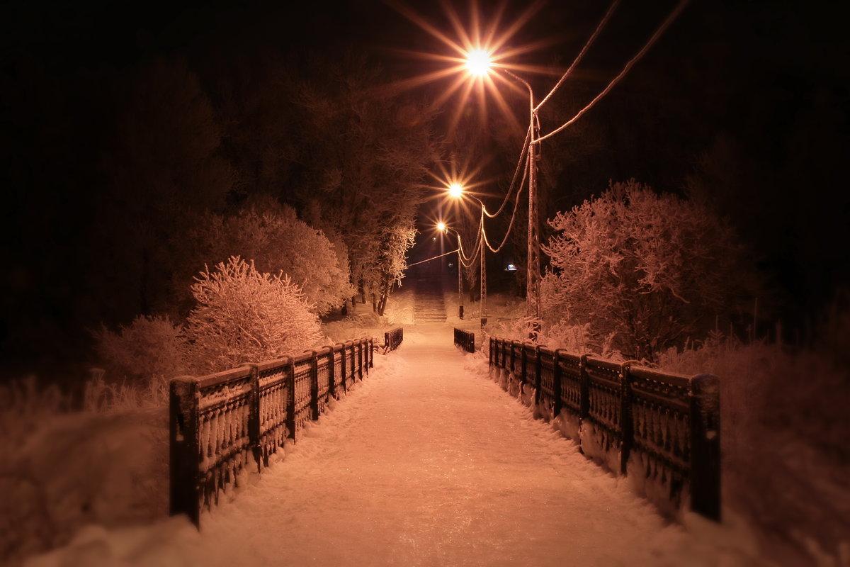 Красивые картинки зимы ночью