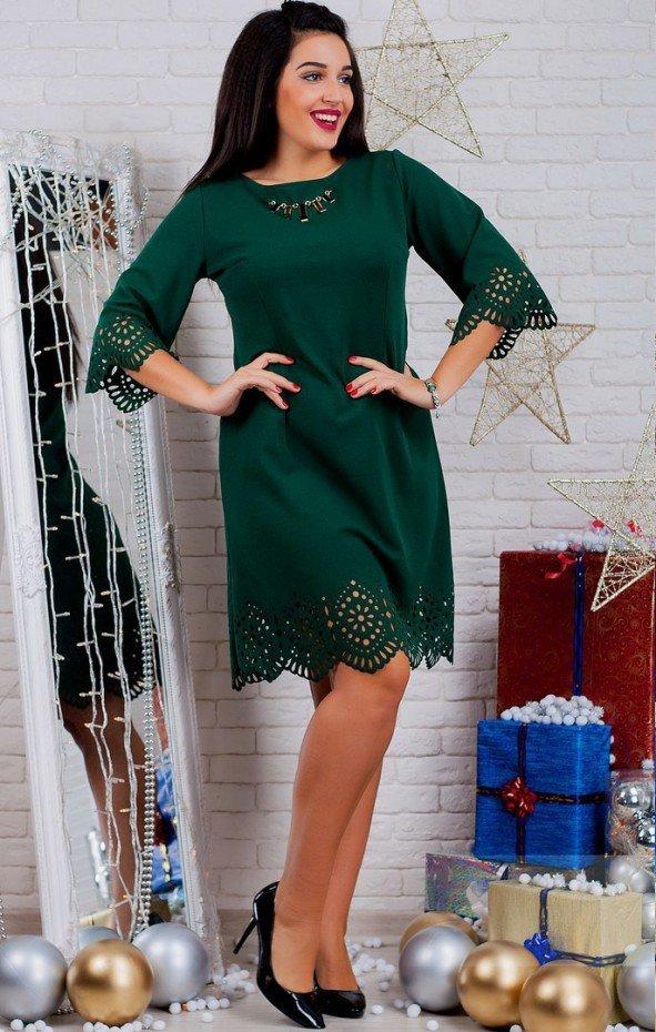 чем можно украсить зеленое платье фото жилет дубинку