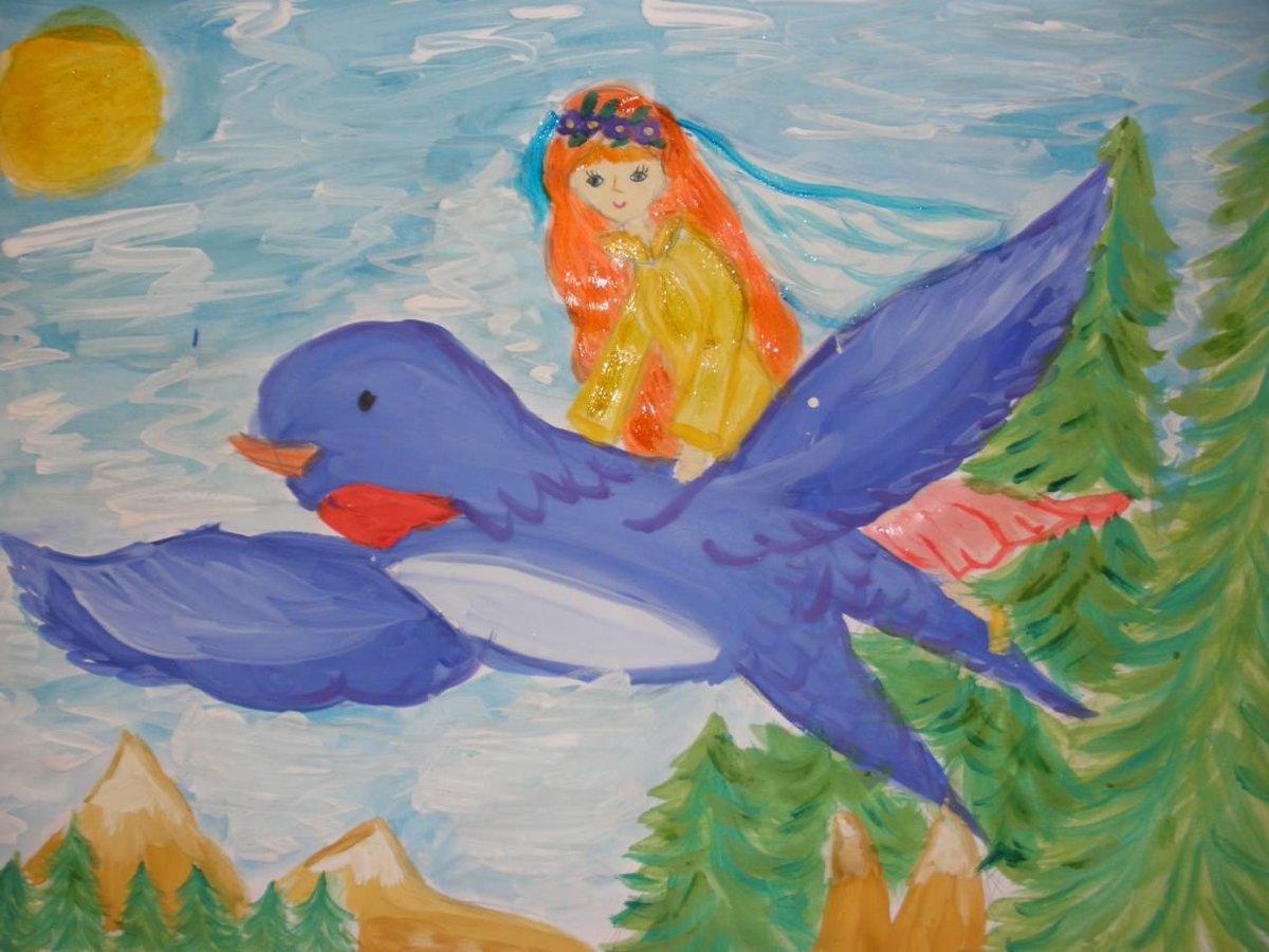 девушка иллюстрации к сказкам для рисования сомнения