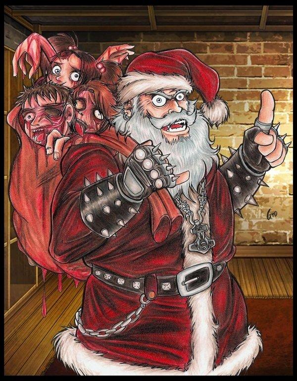 Ужасные открытки с новым годом, целуем тебя поздравление