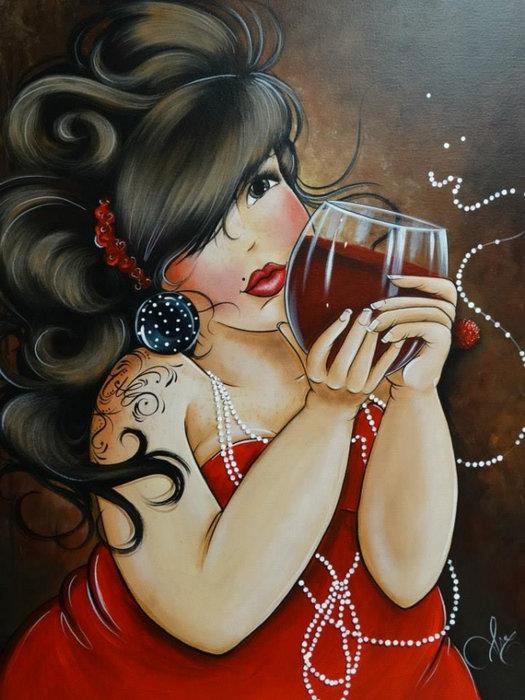 Февраля картинки, прикол картинки вино девушка